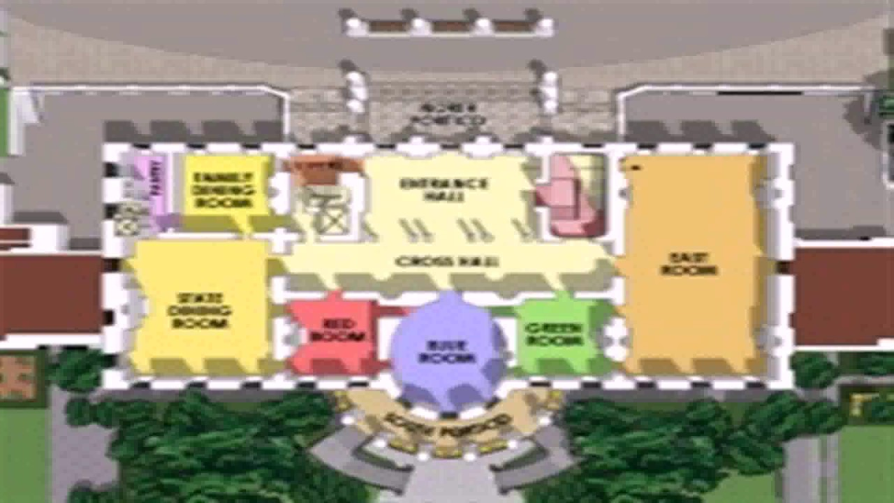 White House Layout Floor Plan  YouTube