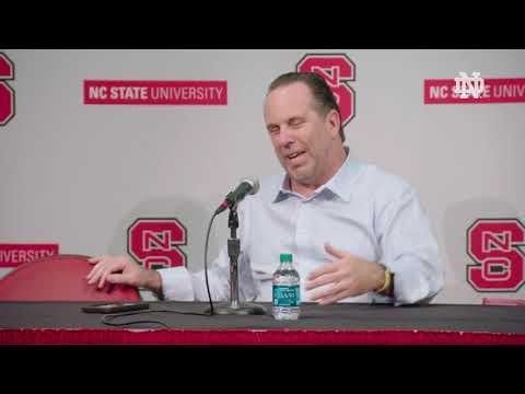 Post-Game Press Conference | @NDmbb at NC State (2018)