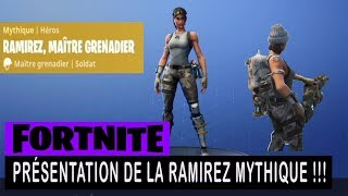 FORTNITE - SAUVER THE WORLD - PRESENTATION OF THE MYTHICAL RAMIREZ !!!