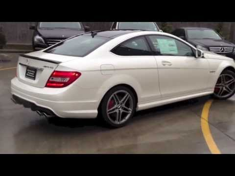 mercedes benz c63 amg coupe start up revs with amazing. Black Bedroom Furniture Sets. Home Design Ideas