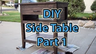 DIY End Table Part 1