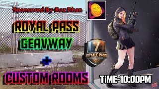 Royal Pass Season 7  Custom Rooms   PUBG Mobile Live  Marathi Vikya
