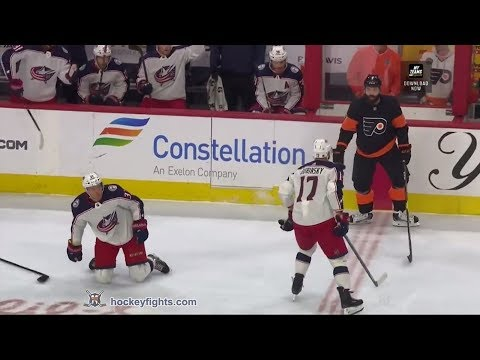 Brandon Dubinsky vs Radko Gudas December 22nd, 2018