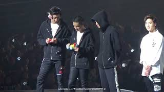 180211 Playing mini motor car (EXO D.O. 디오/경수 focus with Chanyeol & Kai ) @ The ElyXiOn in Taipei