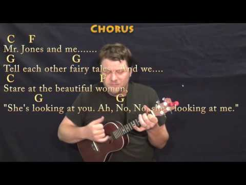 Mr. Jones (Counting Crows) Ukulele Cover Lesson in C with Chords/Lyrics