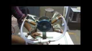 Motor neumatico radial 2 tiempos 4 pistones