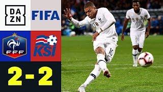 Kylian Mbappes Last-Minute Elfer rettet den Weltmeister: Frankreich – Island | Testspiel | DAZN HL