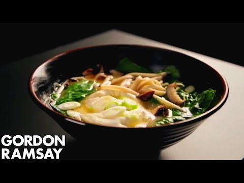 Noodle Soup With Poached Eggs & Spring Onions | Gordon Ramsay