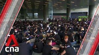 Hong Kong protests: Demonstrators gather outside legislative council