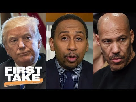 Stephen A. reacts to President Trump calling LaVar Ball an 'ungrateful fool' | First Take | ESPN