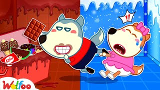 Cold vs Chocolate Room - Wolfoo Learns to Share - Kids Stories About Wolfoo Family | Wolfoo Family