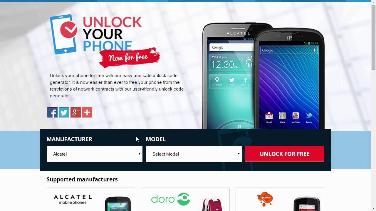 unlock alcatel