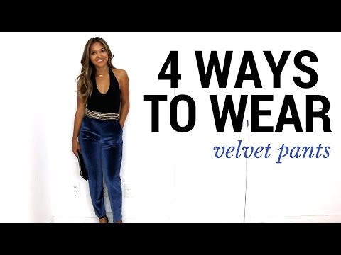 4 Ways To Wear Velvet Pants | How to Style + Lookbook + Outfit Ideas