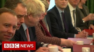 UK election: Victorious Johnson addresses Cabinet - BBC News