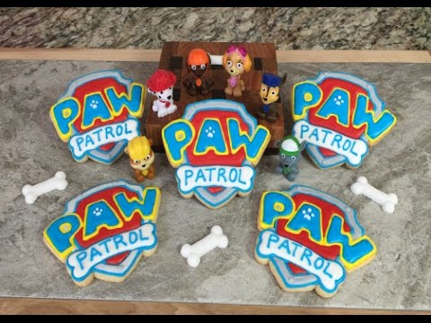 PAW PATROL Shield Logo Cookies(How To) - YouTube
