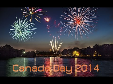 Canada Day Fireworks 2014. Port Credit, Mississauga, Ontario