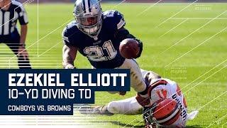 Ezekiel Elliott Throws a Stiff Arm & Dives for the TD! | Cowboys vs. Browns | NFL