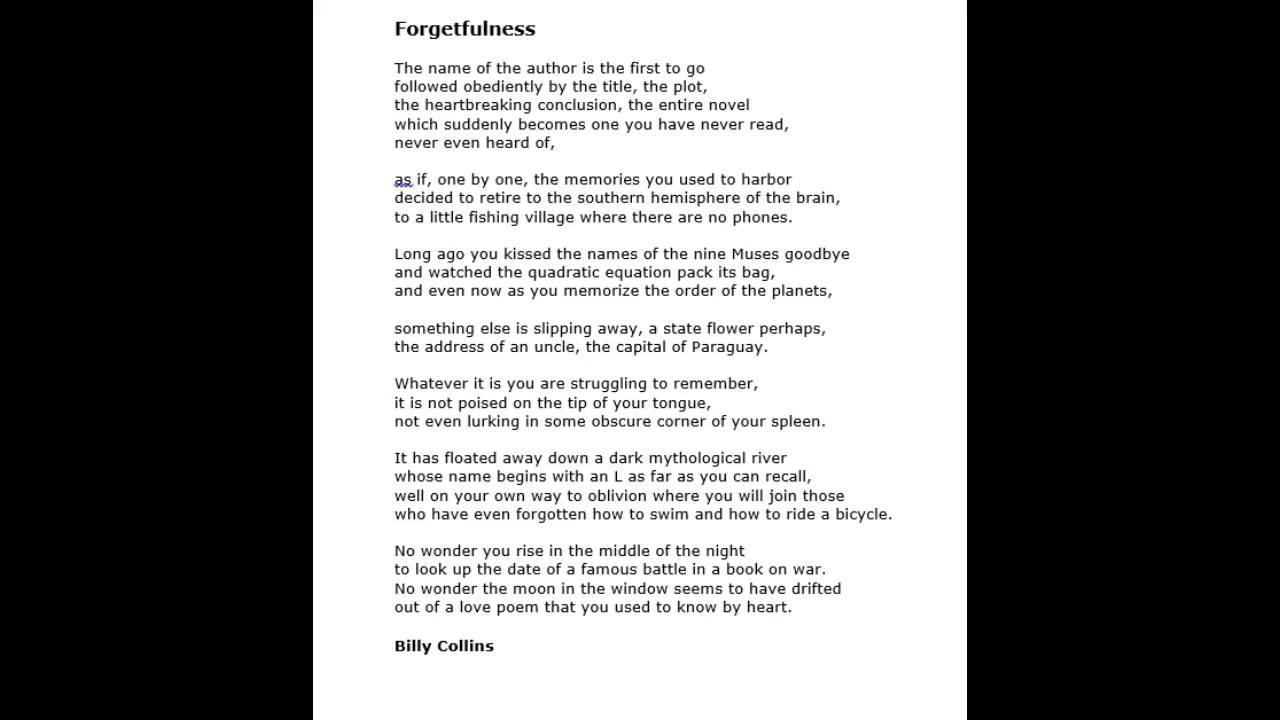 Billy Collins Love Poems 5