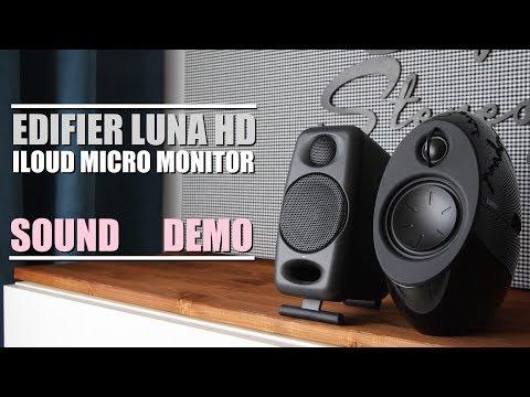 Edifier E25HD Luna Eclipse HD vs iLoud Micro Monitor  ||  Sound Demo w/ Bass Test
