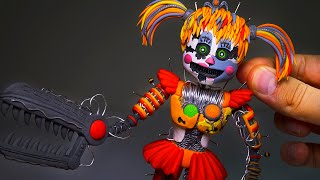I'M DONE WITH THIS.................................Scrap Baby Fnaf Sculpture - Polymer Clay Tutorial