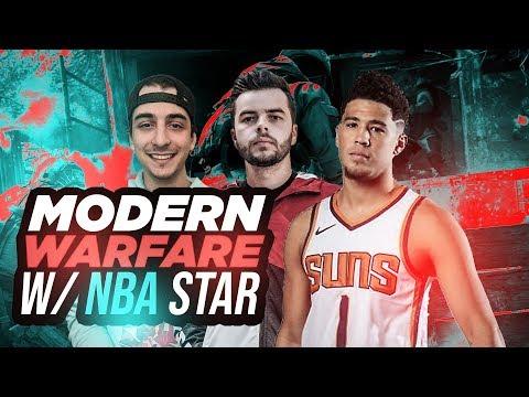 PLAYING MODERN WARFARE WITH NBA SUPERSTAR DEVIN BOOKER!! CHOPPER GUNNER CRAZINESS!