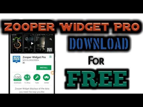 Download Zooper Widget Pro Free [Hacked] 100% working