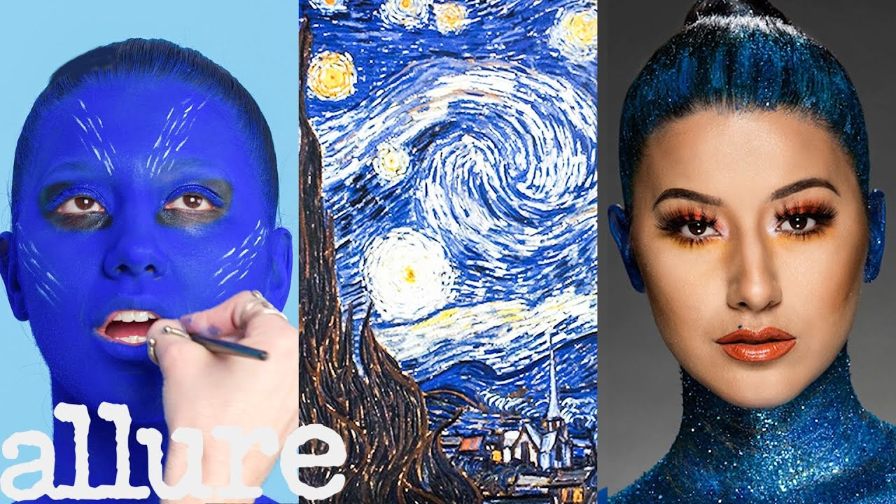 3 Makeup Artists Turn a Model into a Van Gogh Painting | Allure