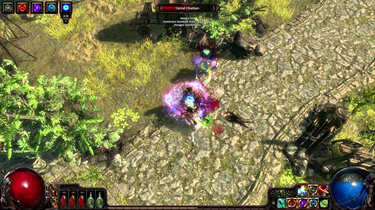 PathOfExile: Witch dual melee chaos flicker strike newbee ... |Chaos Witch Melee Build
