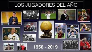 Ganadores BALÓN DE ORO PLATA Y BRONCE 1956 2019