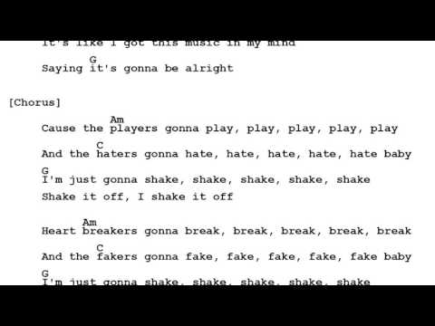 9.2 MB) Shake It Off Chords - Free Download MP3