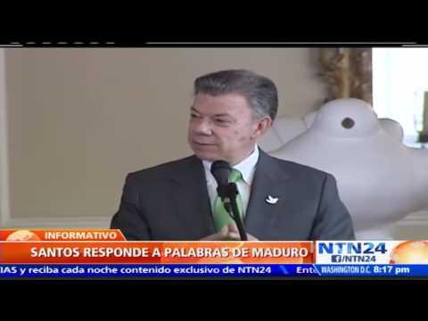 """Juan Manuel Santos le responde a Maduro: """"Este país tiene una democracia sólida"""""""