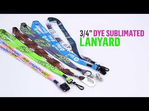 3/4'' Dye Sublimated Lanyard with Metal Crimp