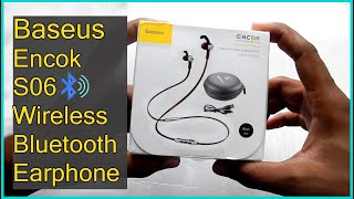 Baseus S06 Bluetooth Wireless earphone Unboxing | Review.