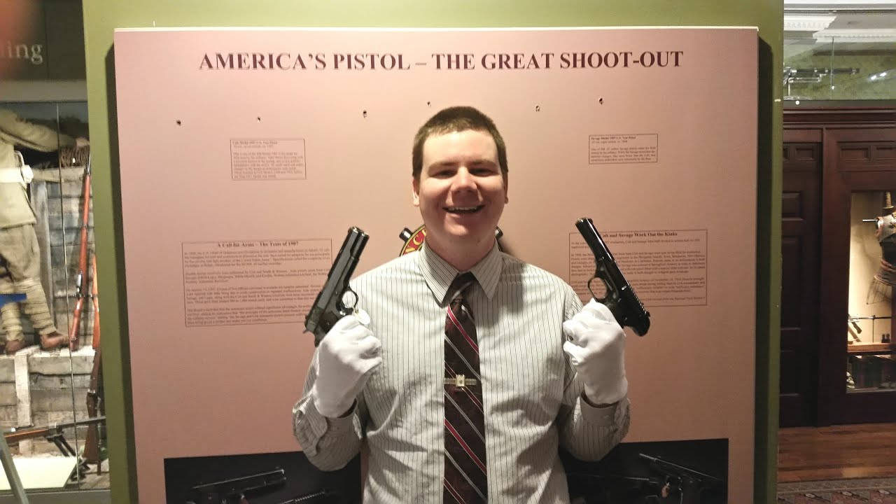 Actual Savage & Colt 1911 Trials Pistols