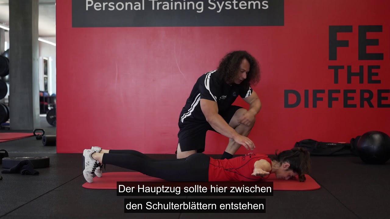 Ü19 SCHULTER Übungen gegen Schulterschmerzen - Prone T..