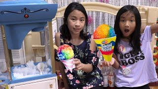 Pretend Play Food Truck Toy with GIANT SNOW CONE KITCHENS