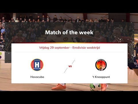 Livestream zaalvoetbal wedstrijd Hovocubo - 't Knooppunt