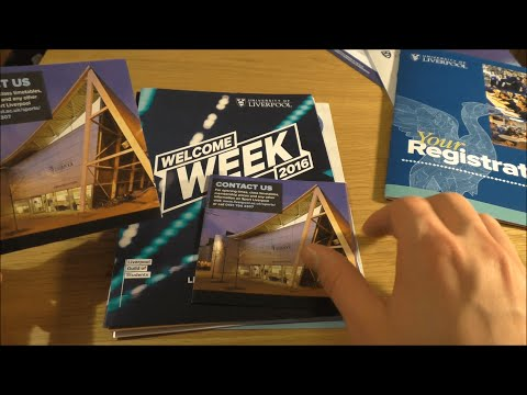 ASMR | Browsing The University of Liverpool Welcome Pack