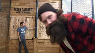Axe Throwing Trick Shots | Heber The Hatchet Man