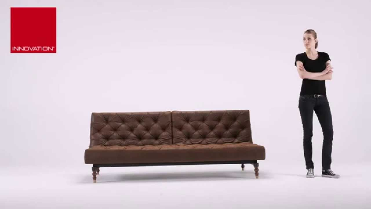 twin sofa bed leather pottery barn basic sleeper slipcover oldschool vintage chesterfield at zin home youtube
