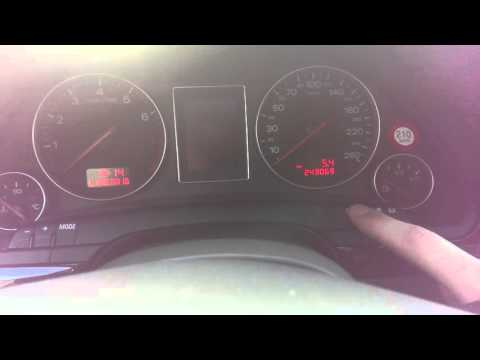 Audi A4 B6 Speed Warning (how To Set)