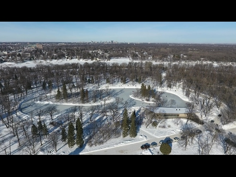 Winter Scenes in St Vital Park and along Red River - Winnipeg, Manitoba