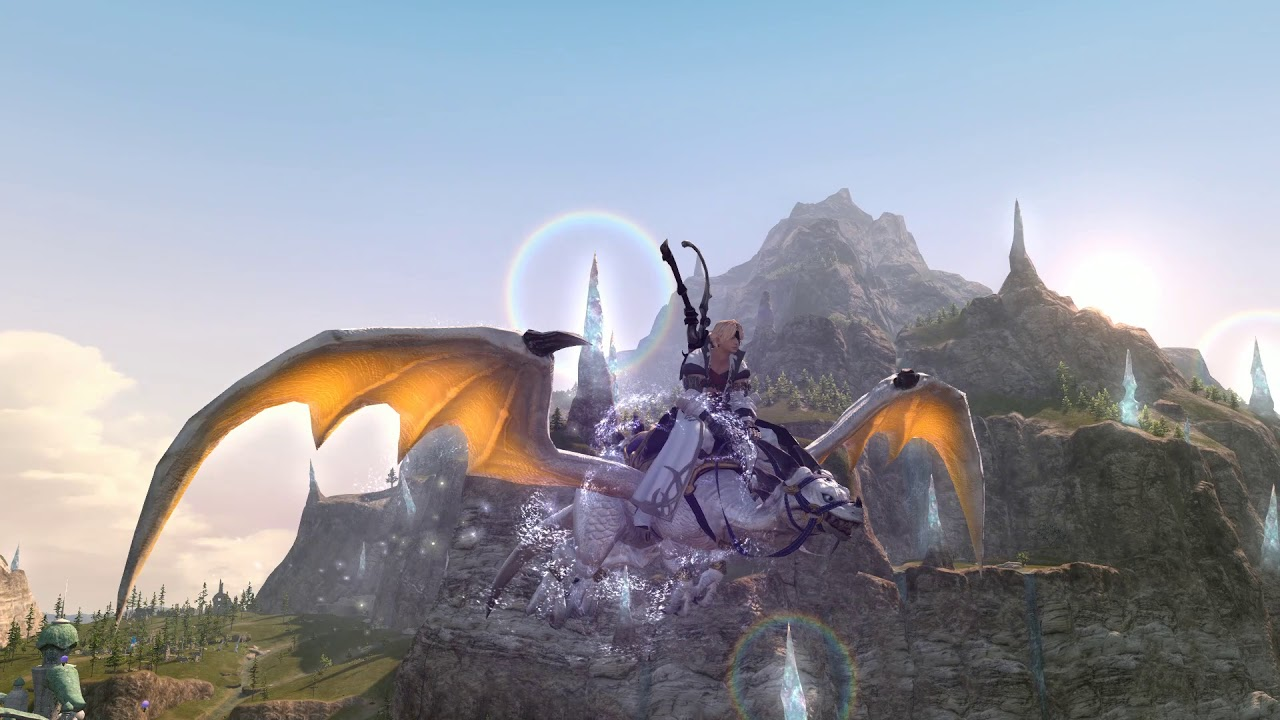 FFXIV - Shadowbringers  New Innocence Ex Mount Display (possible spoiler?)