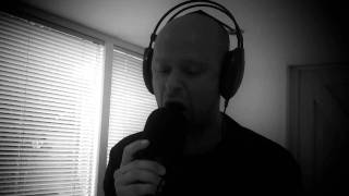 "Synesis Absorption - Robbe K recording vocals for the song ""Disgrace of Redemption"""