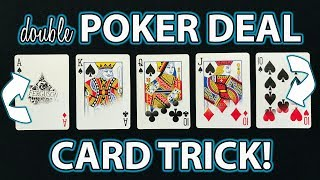 How to do AMAZING Double Card Trick! (Magic + Poker Tutorial Revealed)