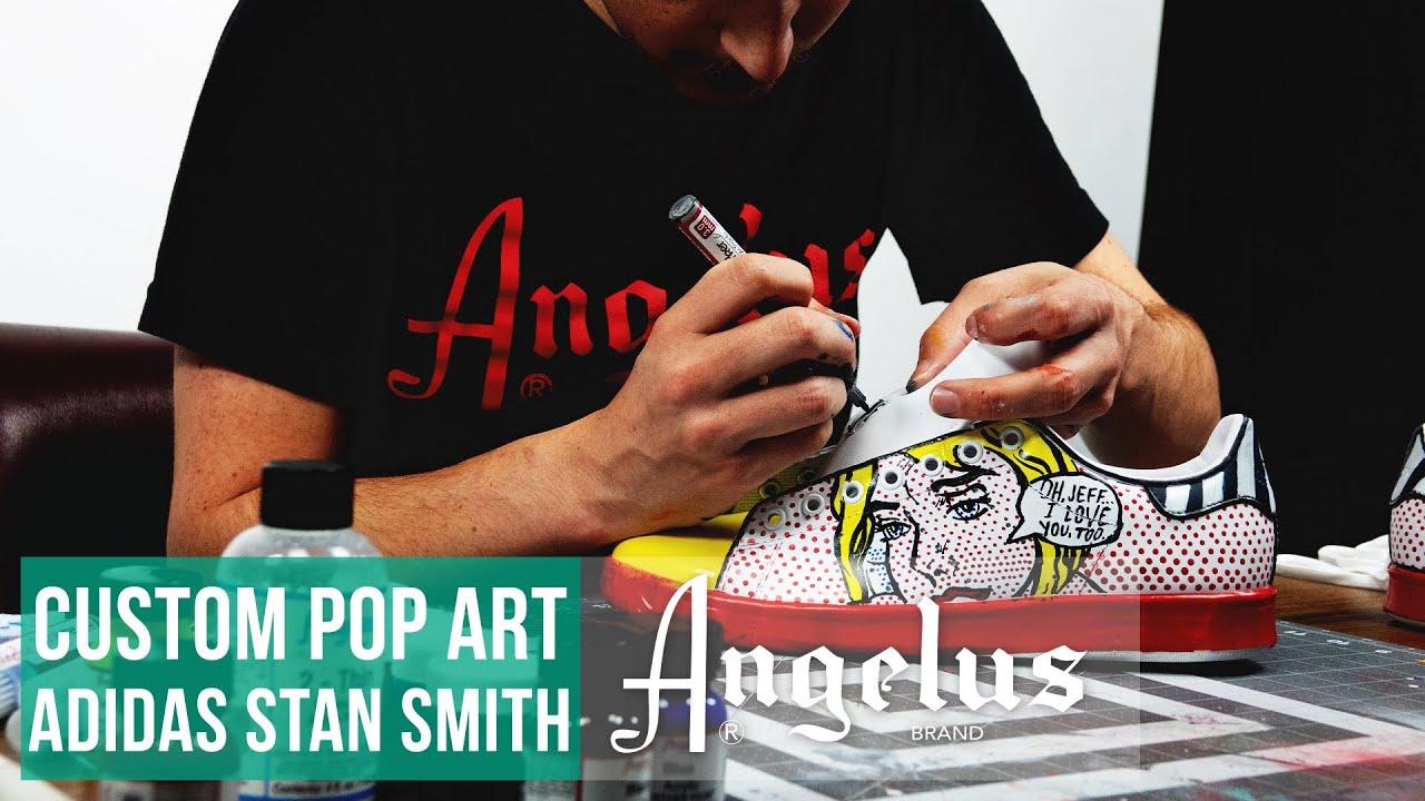 official photos 23274 11b3e Stan Smith Adidas   Roy Lichtenstein Pop Art Custom   Angelus Paint