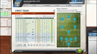Let's Play FIFA Manager 12: Part 6 - Post Match Analysis & New Formation w/Manchester City