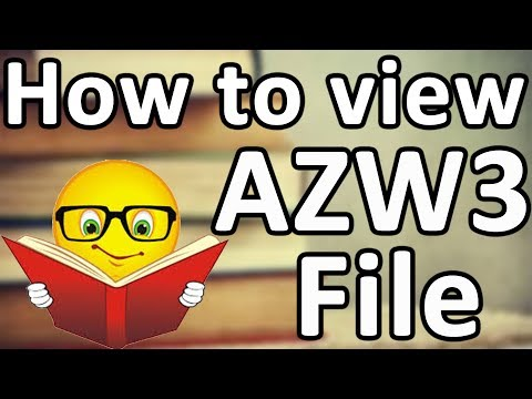 How To View AZW3 Files And Other E-book Files