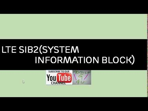LTE SIB2 (System Information Block)