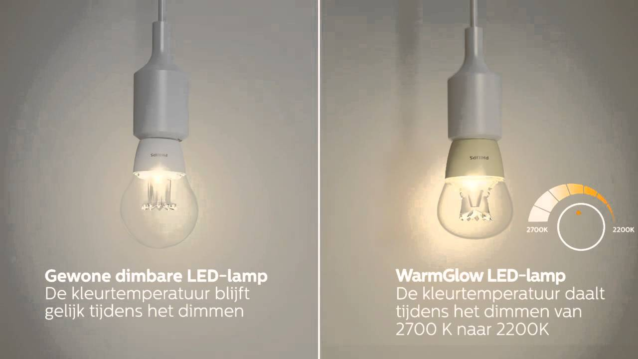 Led Lampen Kleurtemperatuur : Maak kennis met philips warmglow led lampen youtube